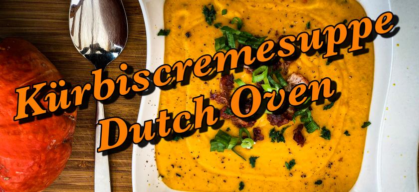 Kürbiscremesuppe aus dem Dutch Oven